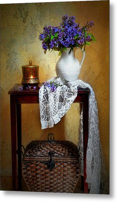 Lilacs And Lace Metal Print