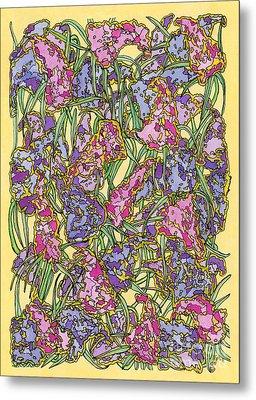 Lilacs Electric Metal Print by Mag Pringle Gire
