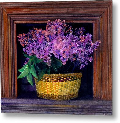 Lilacs Framed Metal Print