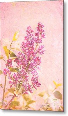 Lilacs In Pink Metal Print by Kay Pickens