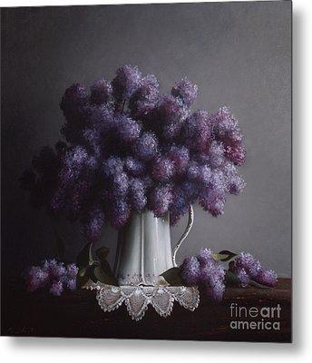 Lilacs Study No.2 Metal Print by Larry Preston