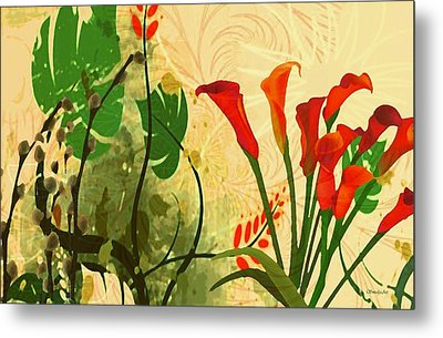 Lilies In The Park Metal Print by Madeline  Allen - SmudgeArt
