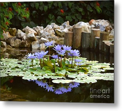 Lilies On The Pond Metal Print by Darla Wood