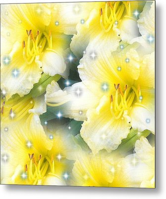 Lilies Photograph By Saribelle Rodriguez Metal Print by Saribelle Rodriguez