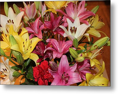 Metal Print featuring the photograph Lilies by John Mathews