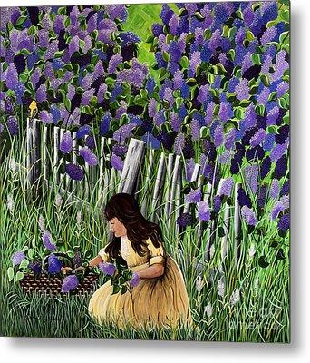 Lillian's Lilacs Metal Print