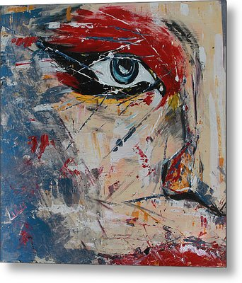Metal Print featuring the painting Liluye by Lucy Matta