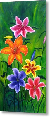 Lily Garden Metal Print