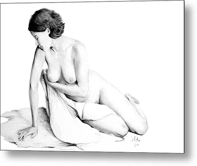 Metal Print featuring the drawing Lily Grace Of Form 3 by Joseph Ogle
