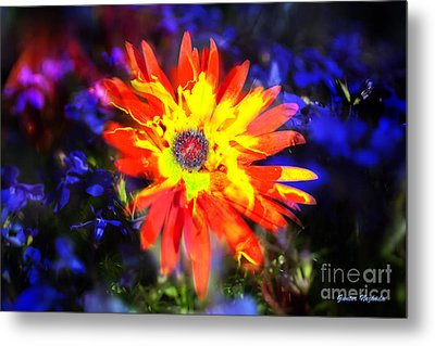 Lily In Vivd Colors Metal Print by Gunter Nezhoda