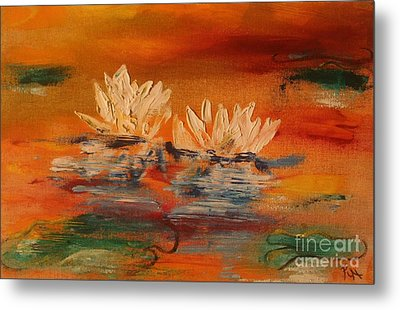 Lily Pad Metal Print by PainterArtist FIN