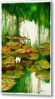 Reflections Among The Lily Pads Metal Print