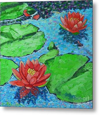 Lily Pond Impression Metal Print by Ana Maria Edulescu