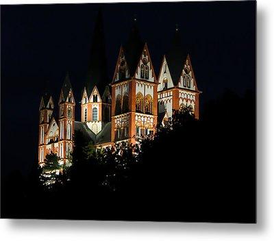 Limburg Cathedral At Night Metal Print by Jenny Setchell