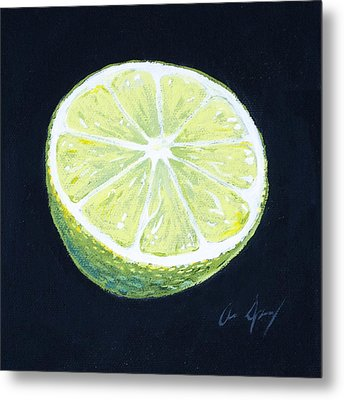 Lime Metal Print by Aaron Spong