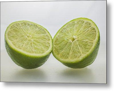 Lime Food Macro 2 Metal Print by David Haskett