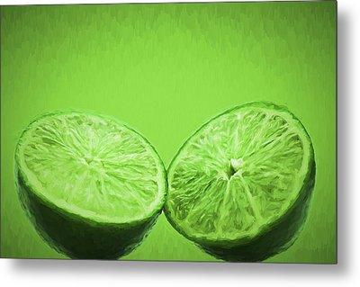 Lime Food Painted Digitally 2 Metal Print by David Haskett