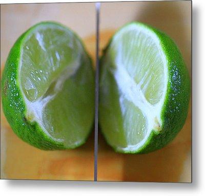 Lime Halves Metal Print by Dan Sproul