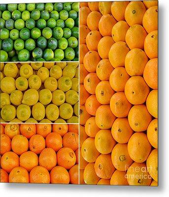 Limes Lemons Oranges Metal Print by Sabine Jacobs