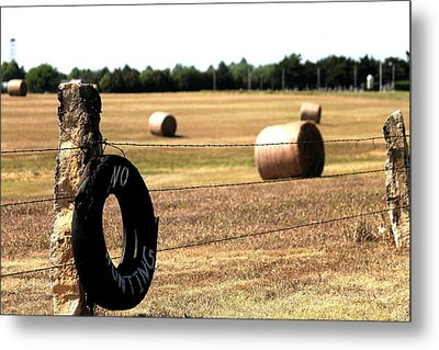 Limestone And Hay Metal Print by Jason Drake