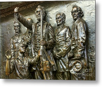 Lincoln Arming The Freed Slaves Metal Print by David Bearden