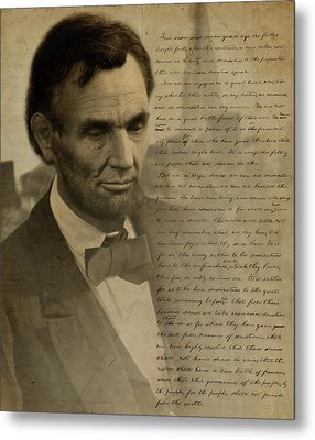 Lincoln At Gettysburg Metal Print by Ray Downing