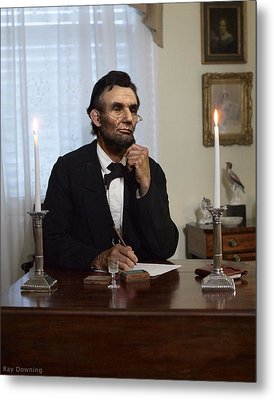 Lincoln At His Desk 2 Metal Print by Ray Downing