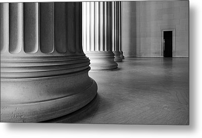 Lincoln Columns Metal Print by Michael Donahue