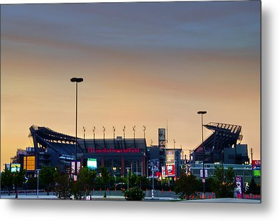 Lincoln Financial Field In A New Light Metal Print by Bill Cannon