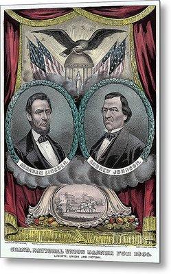 Lincoln Johnson Campaign Poster Metal Print