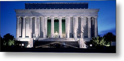 Lincoln Memorial At Dusk, Washington Metal Print by Panoramic Images