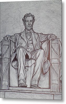 Lincoln Memorial Metal Print by Christy Saunders Church