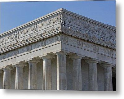 Lincoln Memorial Columns  Metal Print by Susan Candelario