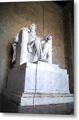 Metal Print featuring the painting Lincoln Memorial by Ike Krieger