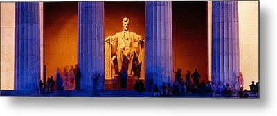 Lincoln Memorial, Washington Dc Metal Print by Panoramic Images