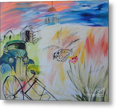 Metal Print featuring the painting Lincoln Nebraska by PainterArtist FIN