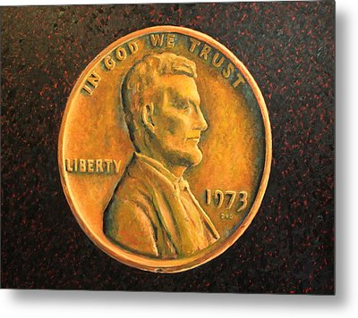 Lincoln Portrait #18 Metal Print by Daniel W Green