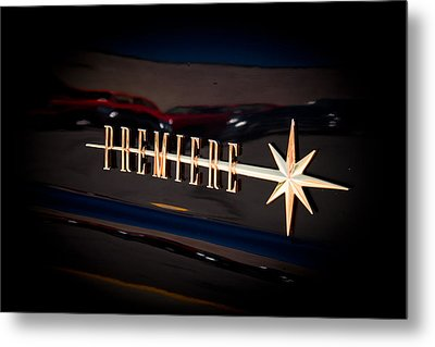 Metal Print featuring the photograph Lincoln Premiere Emblem by Joann Copeland-Paul