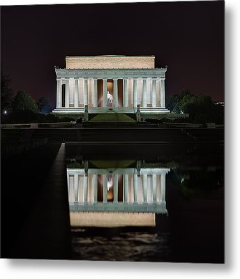 Lincoln Reflection Metal Print