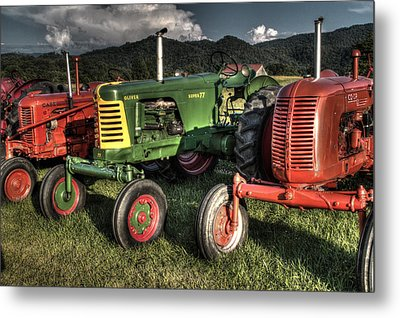 Lined Up Metal Print by Michael Eingle