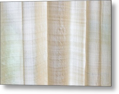 Linen Curtain Metal Print by Tom Gowanlock