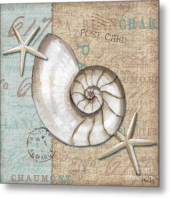 Linen Shells IIi Metal Print by Paul Brent