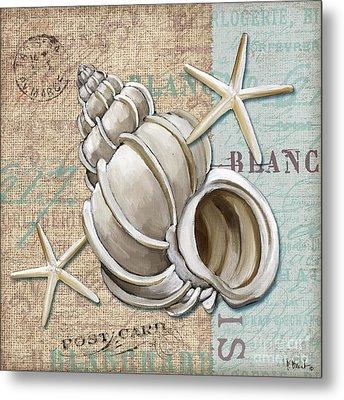 Linen Shells Iv Metal Print by Paul Brent