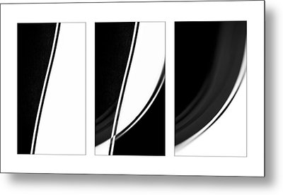Lines And Curves In Black And White Metal Print by Natalie Kinnear