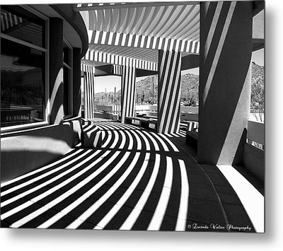 Metal Print featuring the photograph Lines And Curves by Lucinda Walter