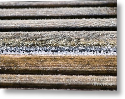 Lines Of Ice Metal Print by Anne Gilbert