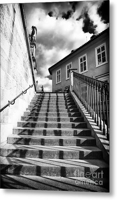 Lines On The Stairs Metal Print by John Rizzuto