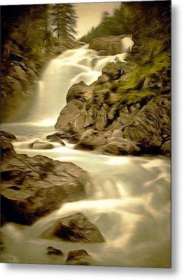 Linn Muick Waterfall Scotland Metal Print by Unknown