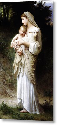 L'innocence By Bouguereau Metal Print