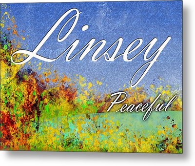 Linsey - Peaceful Metal Print by Christopher Gaston